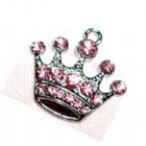 Pink Diamante Crown ID Tags or Charms for Cats or Dogs